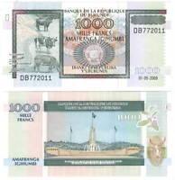 BURUNDI 1000 FRANCS 2009 P-39e UNC - Banknotes Paper Money