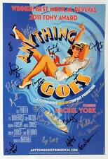 ANYTHING GOES Tour Cast Rachel York, Vincent Rodriguez III + Signed Poster