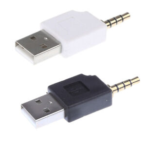 2 Pieces USB 2.0 to 3.5mm Adapter for Apple iPod Shuffle 1st 2nd Generation