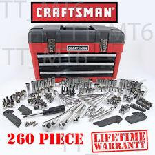 Craftsman 260 Piece Mechanics Tool Set 3 drawer Chest Case Socket 254 311