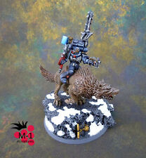 Warhammer 40k Space Wolves Iron Priest on Thunderwolf M-1 pro-painted
