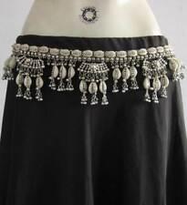 Sea Shell Silver Plated Tribal Belly Dance Belt Metal Beads Banjara Kuchi Gypsy
