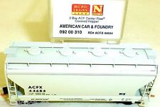 American Car Foundry 2 Bay ACF Center Flow Cov MTL 092 00 310 N 1:160 OVP HU3 å