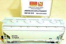 American Car Foundry 2 Bay ACF Center Flow Cov MTL 092 00 310 N 1:160 OVP HU3 å