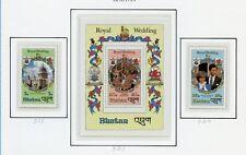 BHUTAN 1981  ROYAL WEDDING  SET & S/S MINT NH