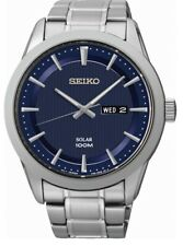 Seiko Gents Solar Stainless Steel Watch - SNE361P1 NEW