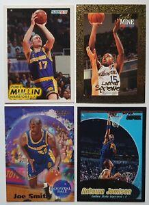 Lot de 4 Cartes Basketball NBA Golden State Warriors Sprewell / Smith / Mullin