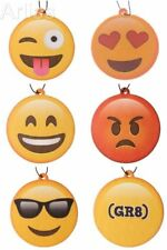 5 x Emotive Air Freshener Emoji Face Scented Car Air Freshener 5 AIR FRESHENERS