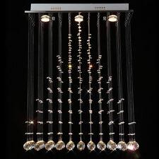 LED Vorhang Kristall Hängelampe Deckenleuchte Lüster Deckenlampe Kronleuchter