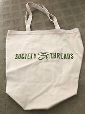 Society Threads 100% Organic Cotton 16oz Canvas Bag Tote Beige ECO Friendly NEW