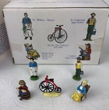 Liberty Falls Hand Painted Pewter Coll Bicycle Cowboy 5 Pewter Figures Ah135