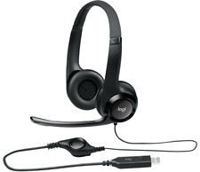 Logitech H390 Wired Headset with Noice Cancelling Microphone USB in-line control