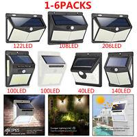 100LED Solar Powered Light PIR Motion Sensor Security Outdoor Garden Wall Lamp