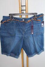 Women's Gloria Vanderbilt Size 24W Plus Shorts NWT NEW $50.00 Denim Bermuda