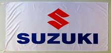 SUZUKI FLAG MOTORCYCLES WHITE - SIZE 150x75cm (5x2.5 ft) - BRAND NEW