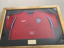 More details for signed framed michael owen england world cup 2002 red shirt v argentina with coa