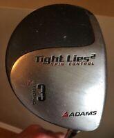 Adams Tight Lies2 Spin Control Strong 3 Wood 13* Graphite Shaft Regular Flex RH