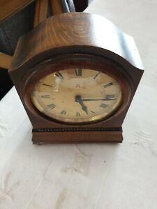 Vintage H. A. C Made in Wurttemberg. Germany oak mantle clock