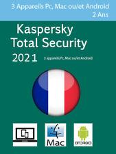 Kaspersky Total Security 2021 Français + UE 3 Appareils 2 Ans envoi par émail