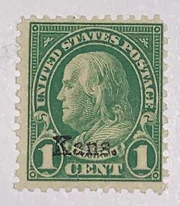 Travelstamps: 1929 US Stamp Scott #658 1c Kansas overprint. Mint No Gum