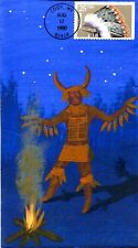 COVERSCAPE handpainted Indian Headdress Medine Man First Day Cover