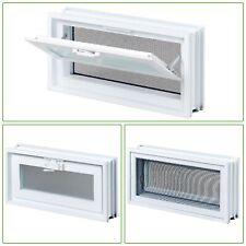 SCREEN WINDOWS VENTILATION Hopper Vent Glass Block Windows Removable Screen