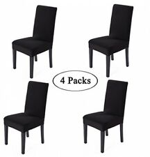 Spandex Fabric Stretch Removable Washable Dining Room Chair Cover Protector Set