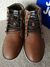 Jack & Jones Ankle Boots Mens Leather Padded Collar Winter Shoes Size UK 10.5