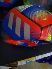 Adidas Messi Youth Soccer Ball Size 3 Multi Colored Deflated Brand New