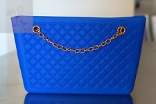 NEW WOMEN BLUE JELLY FROSTED CANDY SILICONE SHOULDER PURSE HANDBAG SATCHEL BAG