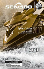 Sea-Doo 2007 3D DI Owners Manual Paperback Free Shipping