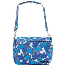 NWT New JU-JU-BE BETTER BE Messenger Bag Diaper Bag Tote Sapphire Lace Blue