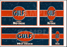 GULF GAS STATION SIGN HO SCALE WATERSLIDE BUILDING DIORAMA LAYOUT SIGNS HO111