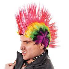 Multi Colour Punk Mohican Rocker Wigs Mohawk Wig for Fancy Party Dress Costume
