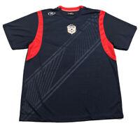 Men's Xara USA Soccer Pullover Jersey Sz XL Football Futbol EUC Blue Red Stripes