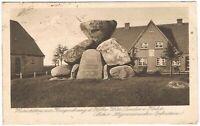 Ansichtskarte Heimstätten mit Kriegerehrung des Hofbesitzers Witt/Lunden 1920 sw