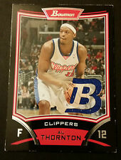 Al Thornton Clippers Florida State 2008 Bowman Game Jersey Certified JG4