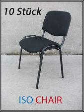 ISO Stühle Konferenzstuhl Besucherstuhl Stapelstuhl Wartezimmerstuhl SCHWARZ NEU