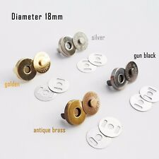 A002.02 18mm Brass Magnetic Snap Button Clasp Bag Fastener for Bag Making