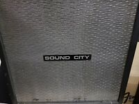"1969 SOUND CITY CAB / CABINET by DALLAS ARBITER - 4 x 12"" - made in U.K."