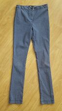 girls New Look skinny/slim trousers age 12 years blue/patterned