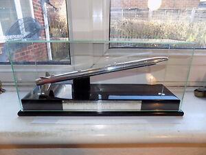 SUPERB ANTHONY HOLT 1995 HALLMARKED SILVER CASED ''ASRAAM'' MISSILE 30.5 cm long