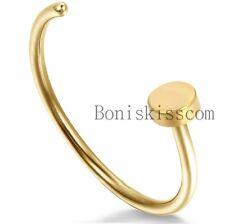 Stainless Steel Body Jewelry Piercing Nose Stud Hoop Ring Men's Women's Unisex