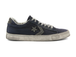 158461C CONVERSE PRO LEATHER VULC OX CANVAS LTD BLU Scarpe Uomo Sneakers