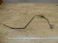 1975 Suzuki GT380 Triple S75. rear brake pedal and cable