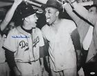 Duke Snider Autographed LA Dodgers 16x20 B&W Beer In Locker Photo- JSA Auth