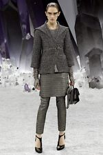 CHANEL 12A 2012 Runway Fantasy Lurex Tweed Jewel Buttons Blazer Jacket 42