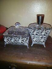 Vintage Glass Vanity Set. Beautiful. Must See! Great Price!