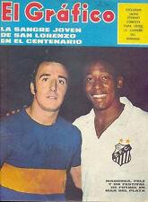 PELE SANTOS vs BOCA JUNIORS Magazine 1970