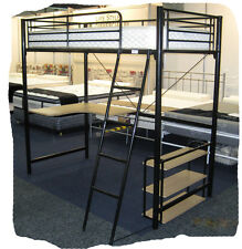 Mel's Black Single Steel Loft Bunk Bed - BRAND NEW
